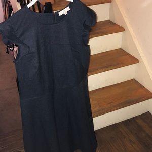 Loft black denim dress